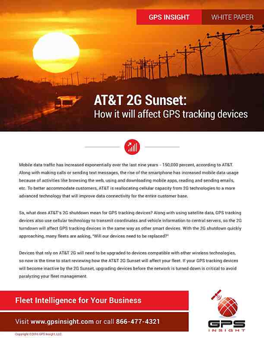 AT&T 2G Sunset: How it Will Affect GPS Tracking Devices