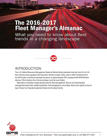 Fleet Trends: What Fleet Managers Should Expect Going into 2017