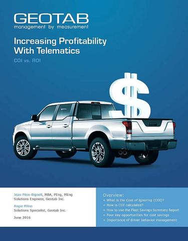 Increasing Profitability With Telematics: COI vs. ROI