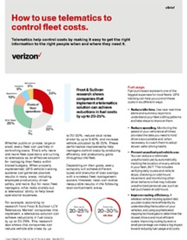 How to use telematics to control fleet costs.