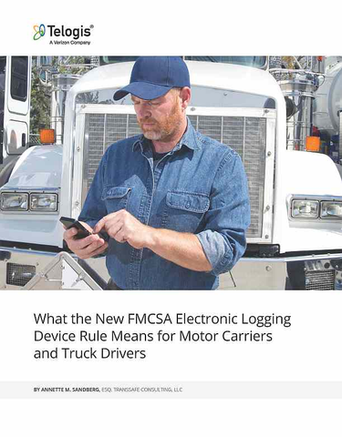 What the New FMCSA Electronic Logging Device Rule Means for Motor Carriers and Truck Drivers