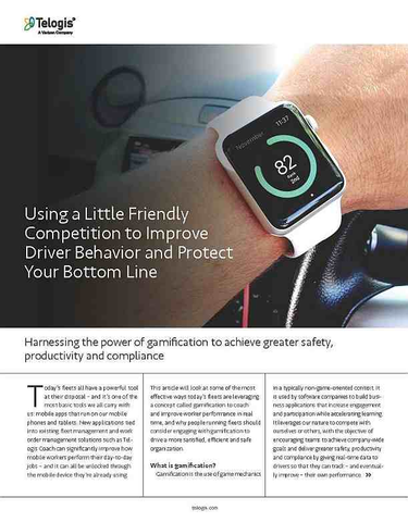 Using Gamification to Improve Driver Behavior