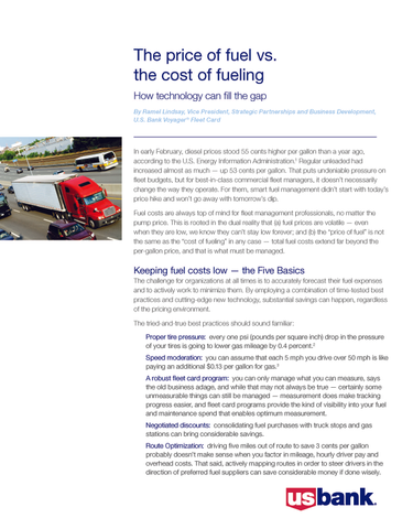 The Price of Fuel vs. The Cost of Fueling