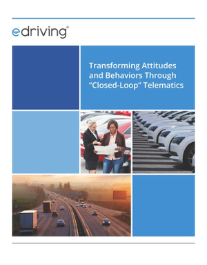 "Transforming Driver Attitudes and Behaviors Through ""Closed-Loop"" Telematics"