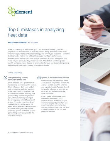 Top 5 Mistakes in Analyzing Fleet Data