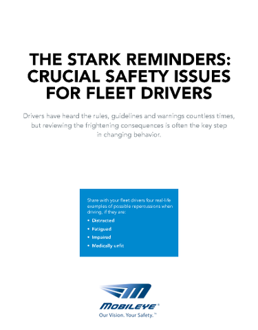 The Stark Reminders: Crucial Safety Issues for Fleet Drivers