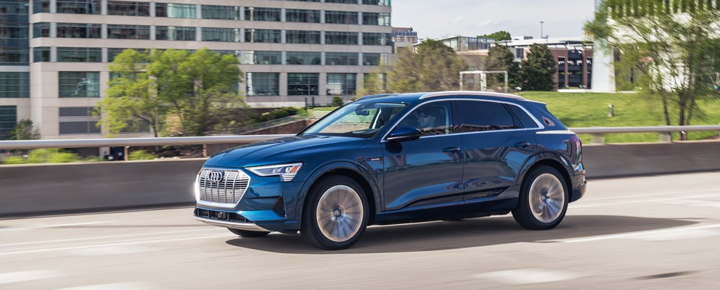 Photo courtesy of Audi of America. 2019 model shown. With the Audi e-tron fleets don't have to sacrifice stye or performance. -