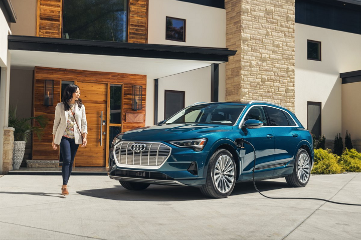 Photo Courtesy of Audi of America. 2019 model shown. Audi e-tron can be charged at home.1 -