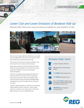 Lower Cost and Lower Emissions of Biodiesel Add Up