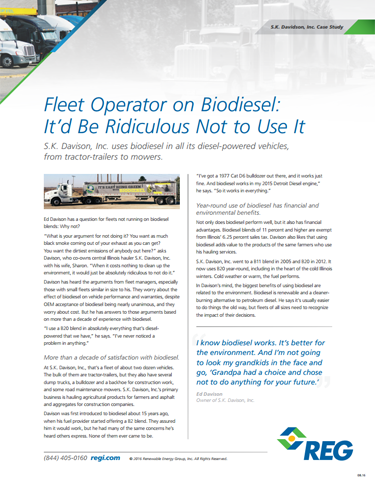 Fleet Operator on Biodiesel: It'd Be Ridiculous Not to Use It