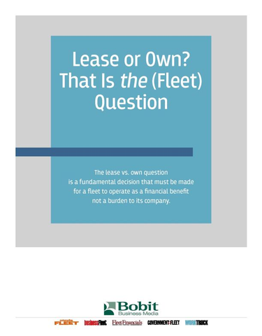 Lease or Own? That Is the (Fleet) Question