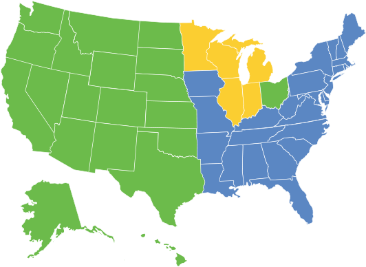 Regional Map for Sales People