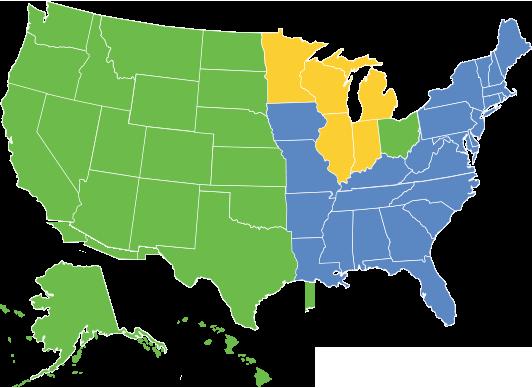 Regional Sales Map