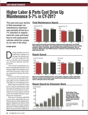 2017 Maintenance Statistics