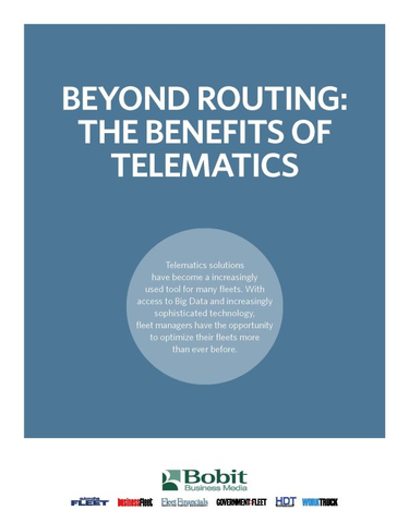 Beyond Routing: The Benefits of Telematics