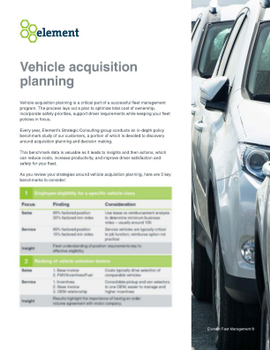 Vehicle Acquisition Planning