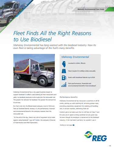 Fleet Finds All the Right Reasons to Use Biodiesel