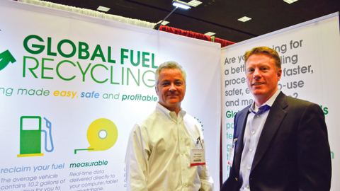 Photo by Joanne M. Tucker Global Fuel Recycling CEO Jerry McGuffin (right) and Vice President...