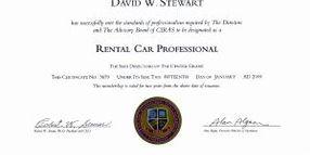Professionalizing Auto Rental Through Certification
