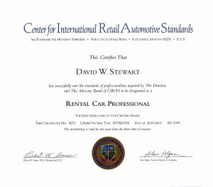 Professionalizing Auto Rental Through Certification