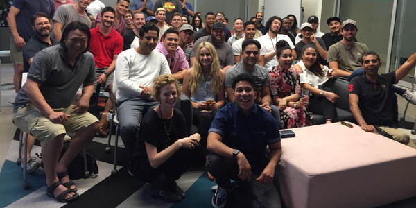 The Los Angeles HyreCar team poses in its Los Angeles headquarters. Photo courtesy of HyreCar