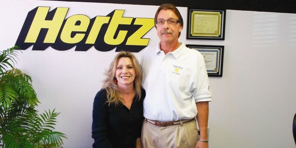 Sheryl and Brady Krueger are co-owners of a Hertz Local Edition in Newton, Kan. The rental...
