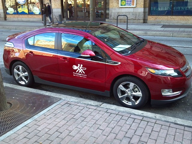 Photo courtesy of PhillyCarShare A Chevrolet Volt part of the PhillyCarShare fleet on the streets of Philadelphia.