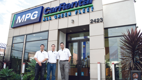 Photo by Vincent Taroc. MPG Car Rental in Venice, Calif. was launched in 2011 as an all-green...