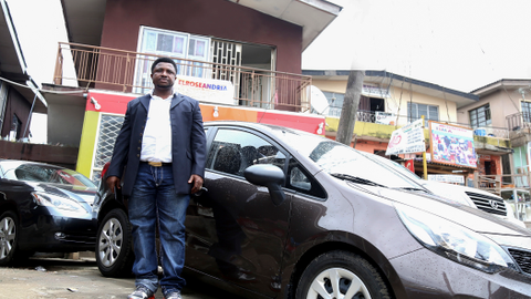 Elvis Ubaka Canice, co-owner of Elroseandria Automobile and Investment Limited in Lagos, feels...