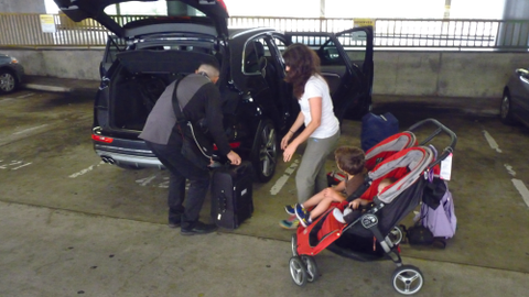Our Audi on demand concierge Kevin helped us through the drop-off process — by loading luggage,...
