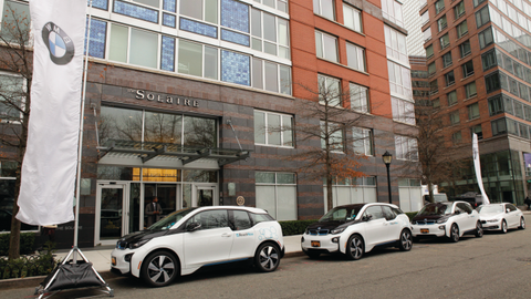 ReachNow, BMW Group's carsharing service, has served the 700 residents of the Solaire, a...