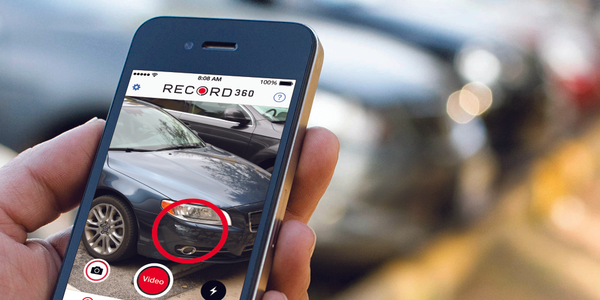 With the Record360 app, rental car employees can take still photos as well as video when...