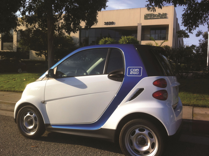 Pioneered by car2go, the second largest carsharing company in the world, point-to-point carsharing allows users to pick up and drop off cars in any legal parking space within the company's coverage area. - Photo by Chris Brown.