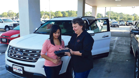 Bay Area Auto & Truck Rental in Dickinson, Texas, uses a Windows-based tablet computer with a...