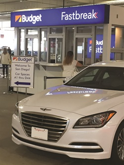 Budget San Diego, a franchise location of Avis Budget Group, is part of the San Diego International Airport's consolidated rental center opened in January 2016.