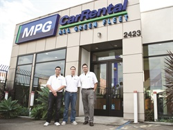 Steve Vahidi (right) opened MPG Car Rental in 2011. Photo by Chris Brown.