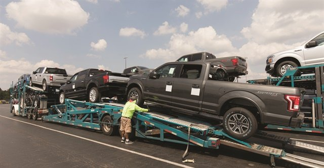 Enterprise Holdings sent 17,000 vehicles to Texas following Hurricane Harvey to meet demand for insurance replacement vehicles. Photo courtesy of Enterprise Holdings.