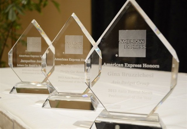 The Professional of the Year trophies. Photo by Amy Winter-Hercher.