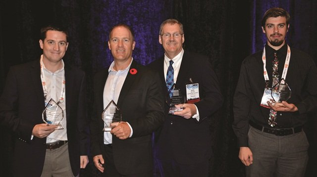 The 2014 Professional of the Year Awards winners (left to right) are Matt Vercollone of Verc Car Rental, Todd Foss of Grace Bay Car Rentals, Richard Wilcox of Enterprise Holdings and TJ Sammut of Bandago Van Rental.