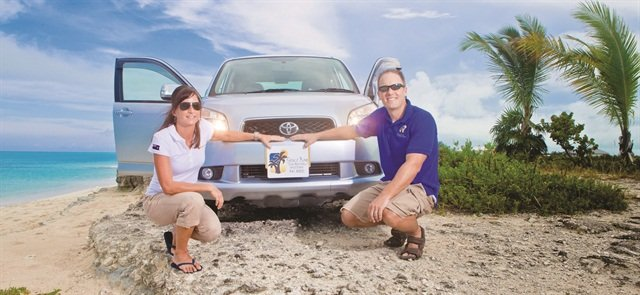 Todd Foss and his wife Leslie started Grace Bay Car Rentals, a Thrifty franchisee, in Turks and Caicos in 2006. Photo courtesy of Todd Foss.