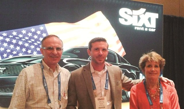 Family-owned VERC Car Rental will open Sixt franchises in Massachusetts and plans to open another Sixt location at Boston Logan International Airport this summer. Jack Vercollone (left) is pictured with his business partners, son (John Paul) and wife (Paula).