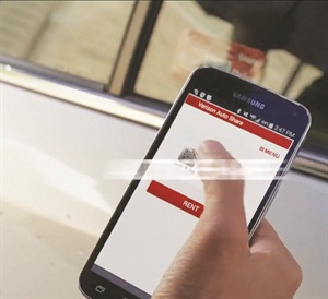 The Verizon Auto Share car-sharing mobile app will be available by the end of 2014. Photo courtesy of Verizon.