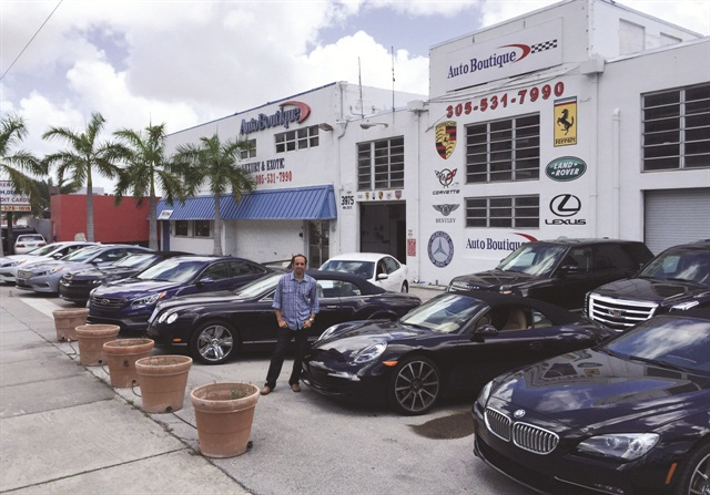 """Youssef Aziz, co-owner of Auto Boutique in Miami, says he lets his leasing company do the work to find the cars. """"They help you find the deals because they want you to be successful and lease more cars from them,"""" he says."""