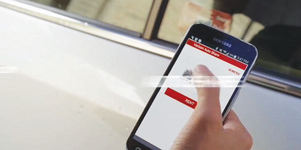 The Verizon Auto Share car-sharing mobile app will be available by the end of 2014. Photo...