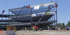 Hertz Adds Final Piece of Structural Steel to Headquarters