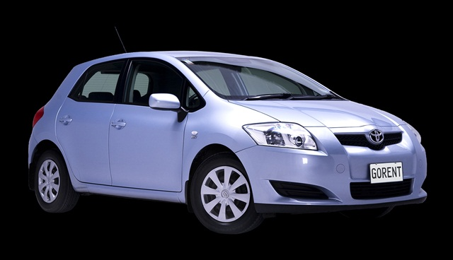 Following the Hyundai Getz, another popular rental at GO Rentals is the Toyota Corolla hatchback.