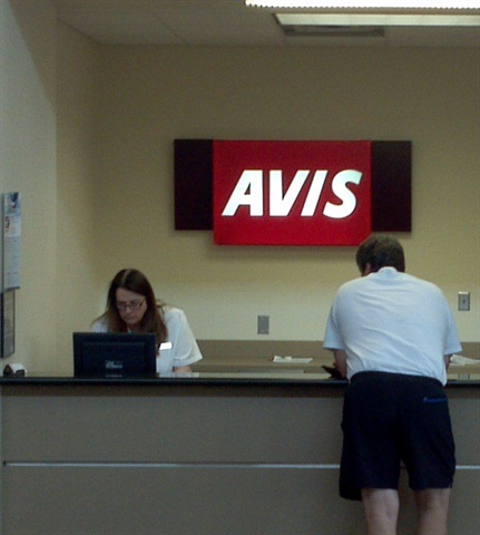 The Avis location at the Joplin Regional Airport, undamaged by the tornado, became a hub of activity for disaster relief providers and local residents needing insurance replacements.
