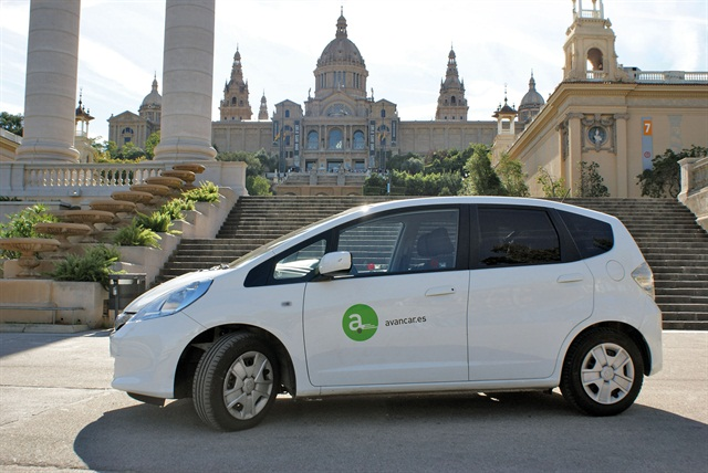 (Photo courtesy of Zipcar Inc.) An Avancar vehicle by Zipcar in Barcelona.