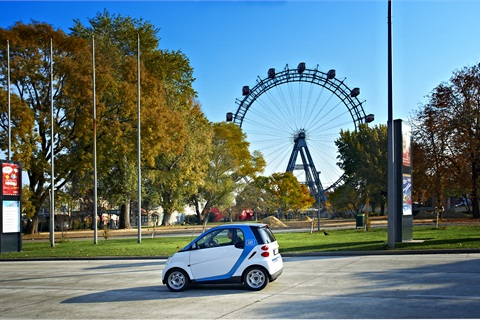 A 'car2go edition' smart fortwo vehicle in Vienna.