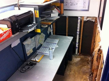 Computers and important files were raised off desks at Dollar Rent-A-Car in Morristown to prevent water damage from occurring before the storm.